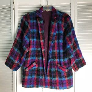 Saks Fifth Avenue Check Open Blazer Coat 10